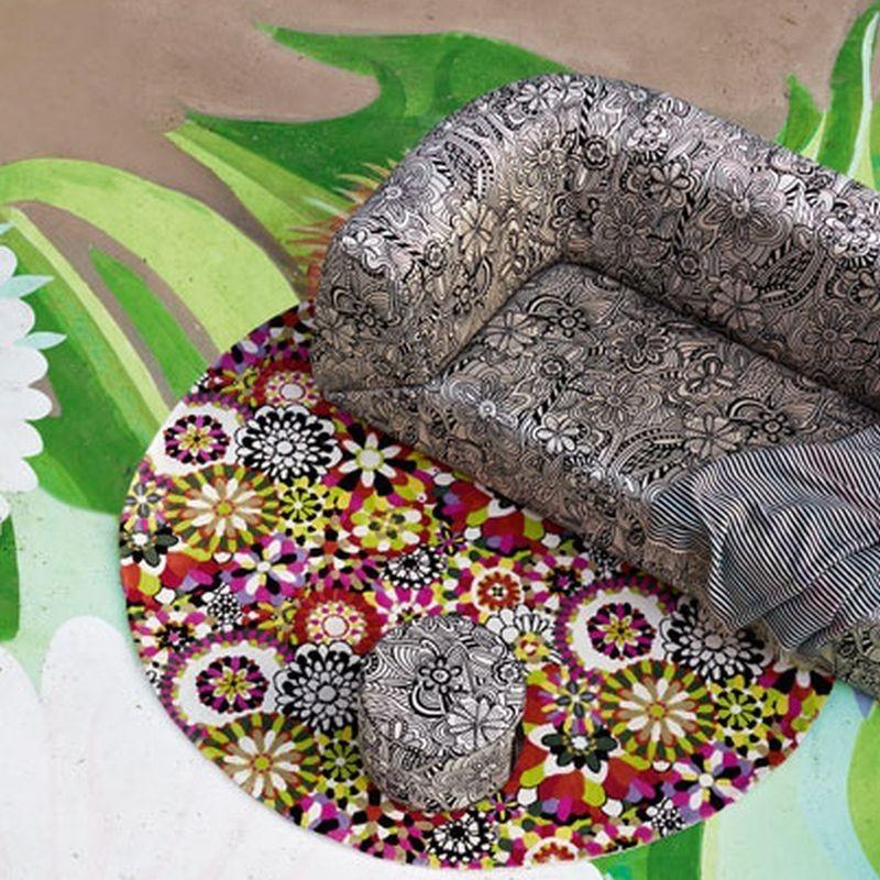 Carpet floreale Fleury Missoni T159 rotondo cm.200x200