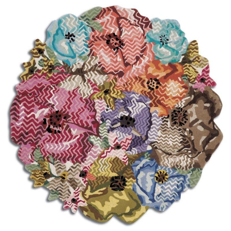 Carpet floreale Ragusa Missoni T149 rotondo cm.150