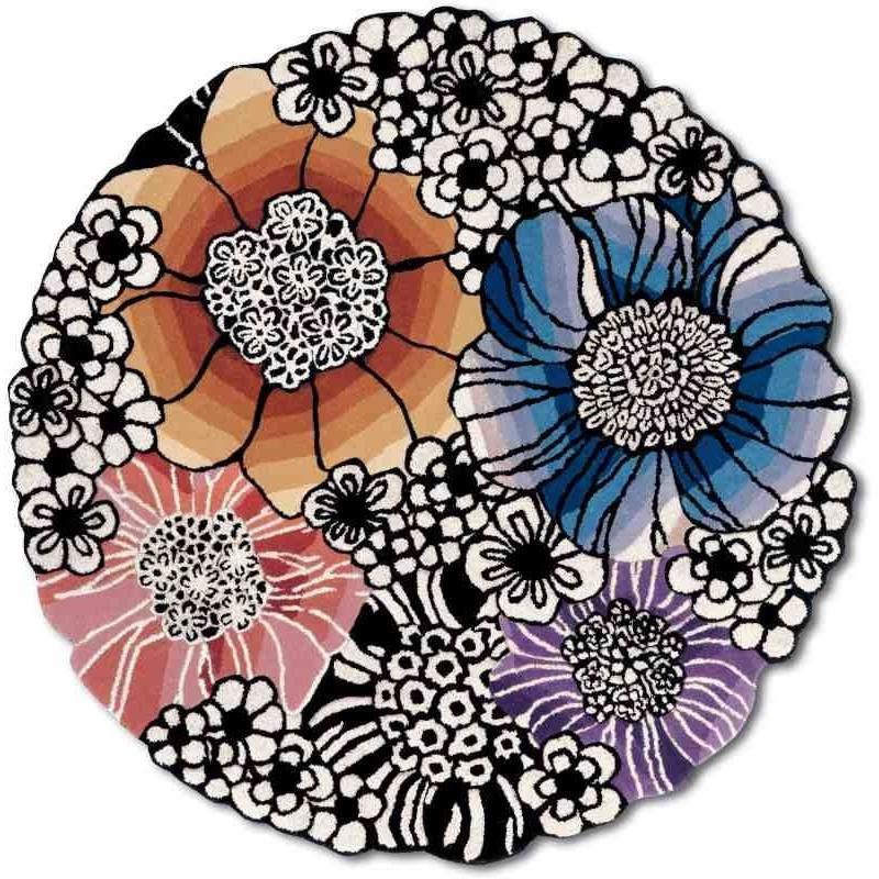 Carpet floreale Saturnia Missoni T159 rotondo cm.150x150