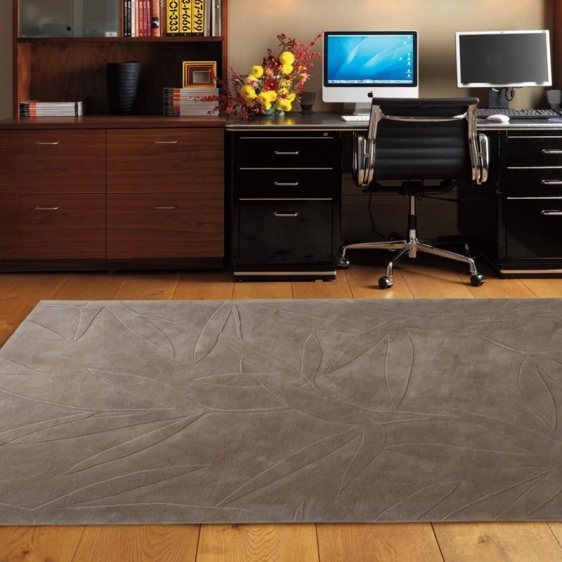 Carpet moderno Foglie 55 Natalia Pepe (-35%) brown cm.160x240 di SITAP