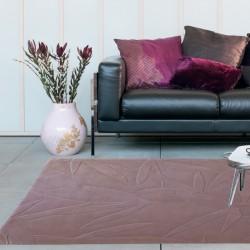 Tappeto moderno Foglie 44 Natalia Pepe (-35%) pink cm.160x240 di SITAP