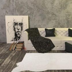 Carpet moderno Chic 00 Natalia Pepe (-35%) white cm.173x254 di SITAP