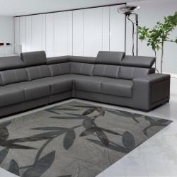 Tappeto moderno Foglie Natalia Pepe (-35%) grey cm.200x300 di SITAP