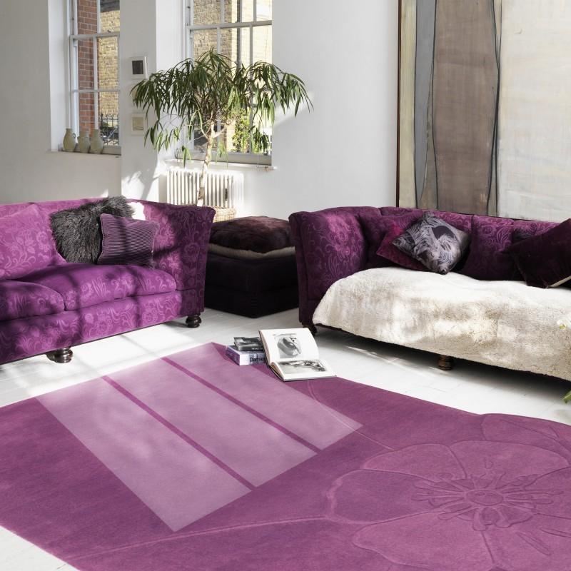 Carpet moderno Chic 66 Natalia Pepe (-35%) purple cm.216x317 di SITAP
