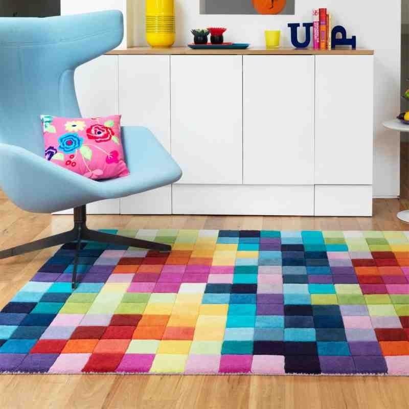 tappeto moderno geometrico Funk Multi Boxes lana