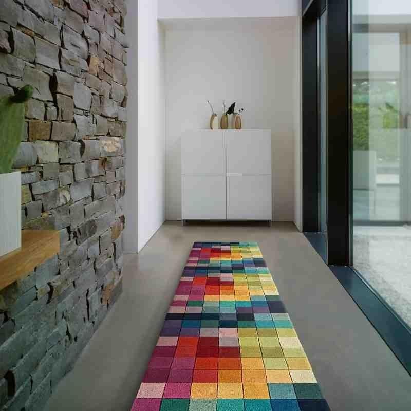 Carpet moderno geometrico Funk Multi Boxes passatoia lana