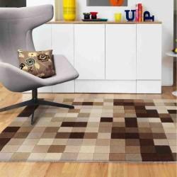tappeto moderno geometrico Funk natural Boxes lana