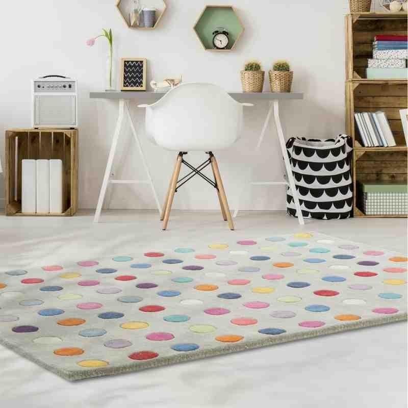 tappeto moderno geometrico Funk Spotty lana