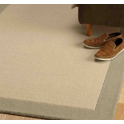 tappeto moderno tinta unita Moorland Stone lana