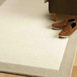 tappeto moderno tinta unita Moorland Taupe lana