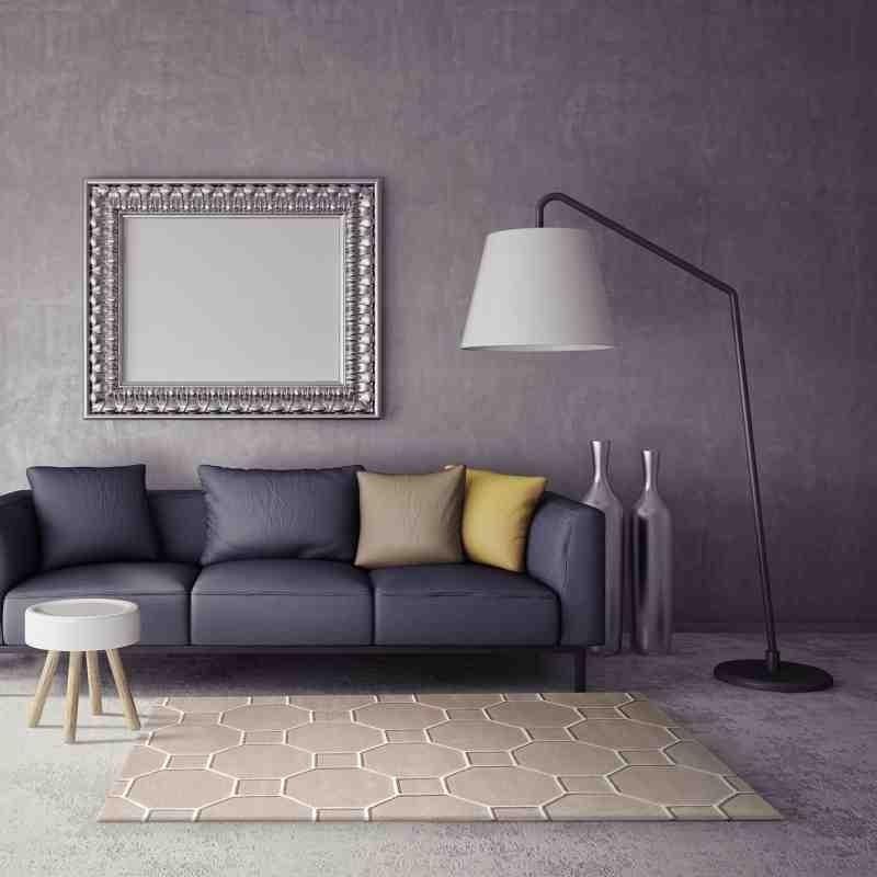 tappeto moderno geometrico Cassin Beige lana