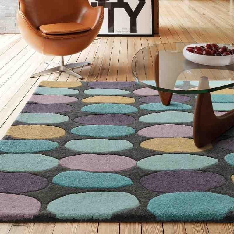tappeto moderno geometrico Sofia Multi lana