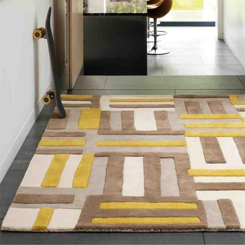 Carpet moderno geometrico Code Yellow lana