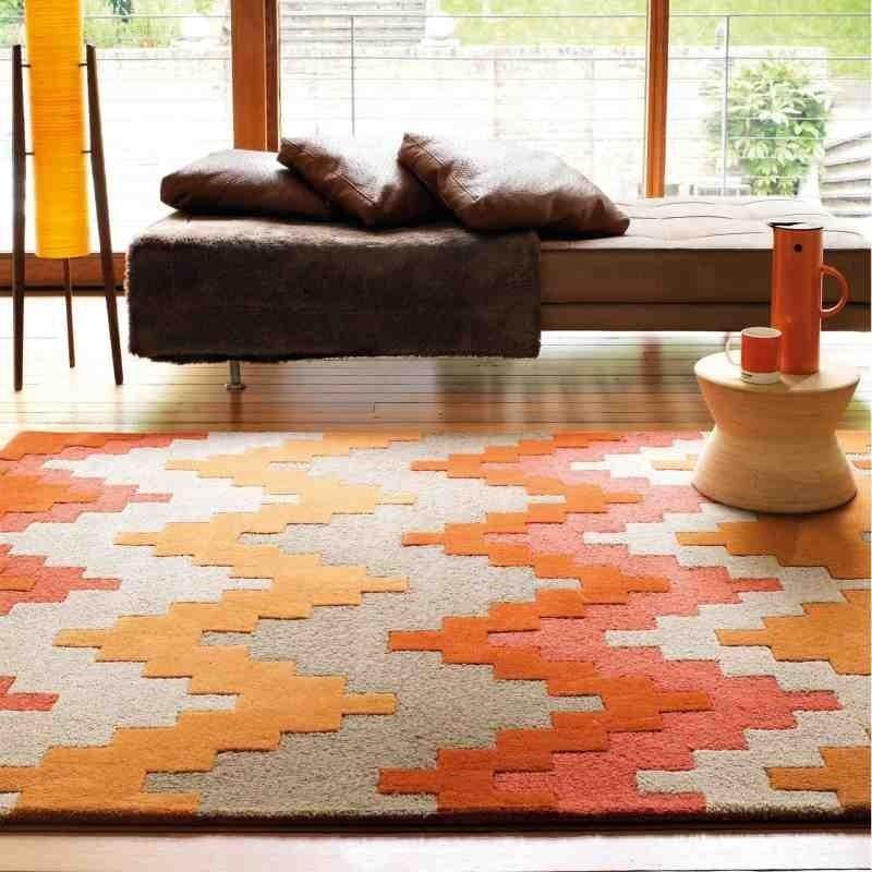 tappeto moderno geometrico Cuzzo Sienna lana