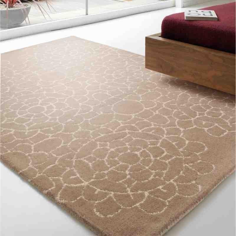 tappeto moderno tinta unita Crochet Cream lana