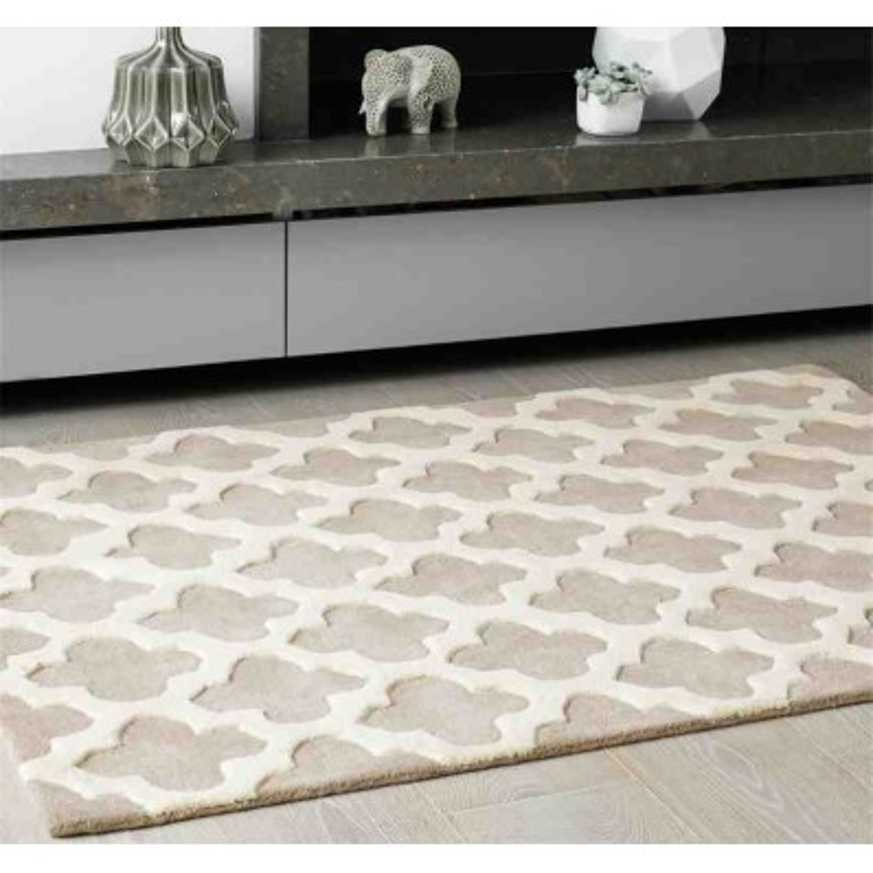 Carpet moderno geometrico Artisan Sand lana
