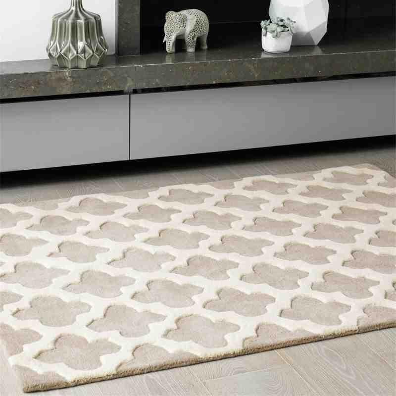 tappeto moderno geometrico Artisan Sand lana