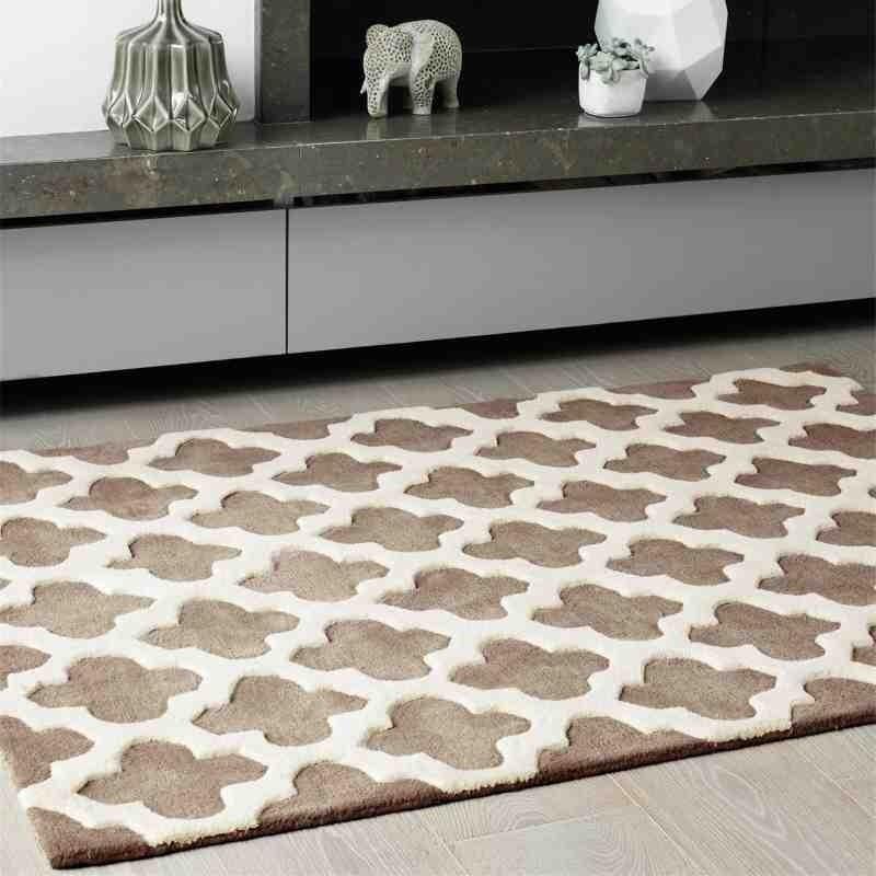Carpet moderno geometrico Artisan Taupe lana