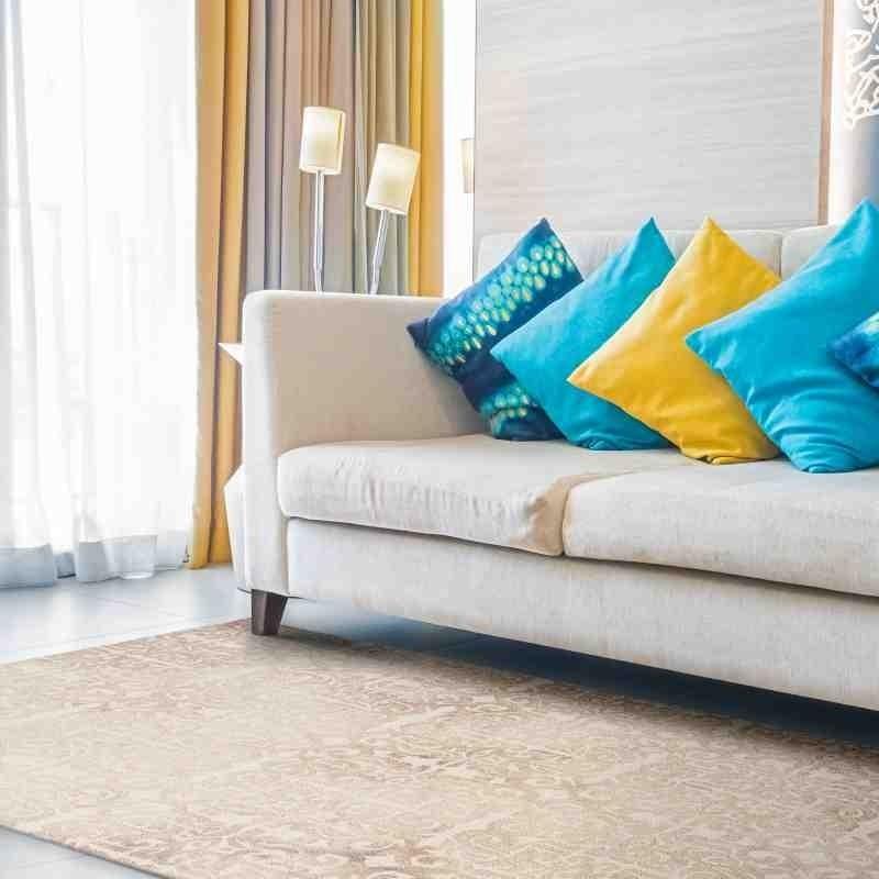 tappeto vintage geometrico Fresco Nude lana