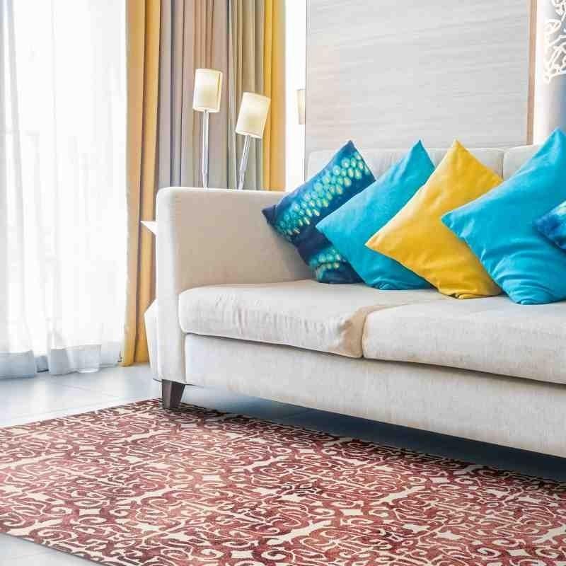 tappeto vintage geometrico Fresco Red lana