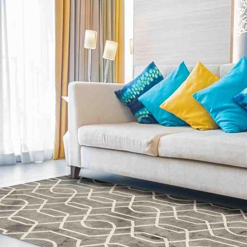 tappeto vintage geometrico Fresco Grey lana