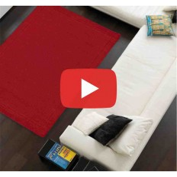 Carpet moderno tinta unita York poppy lana