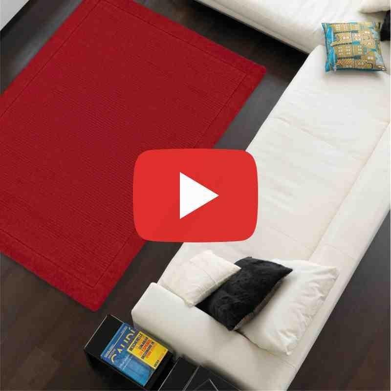 tappeto moderno tinta unita York poppy lana