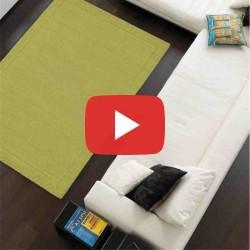 Carpet moderno tinta unita York Green lana