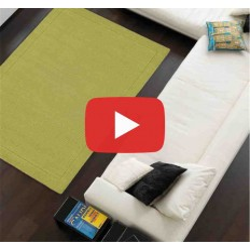tappeto moderno tinta unita York Green lana