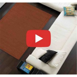 Carpet moderno tinta unita York Terracotta lana