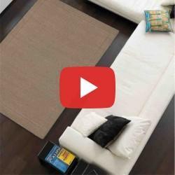 tappeto moderno tinta unita York Taupe lana