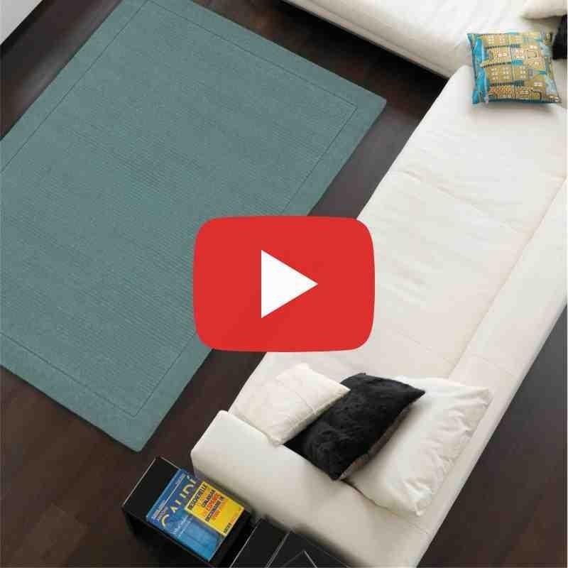 tappeto moderno tinta unita York Duck egg lana