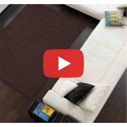 tappeto moderno tinta unita York Chocolate lana