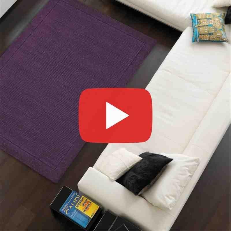tappeto moderno tinta unita York Purple lana