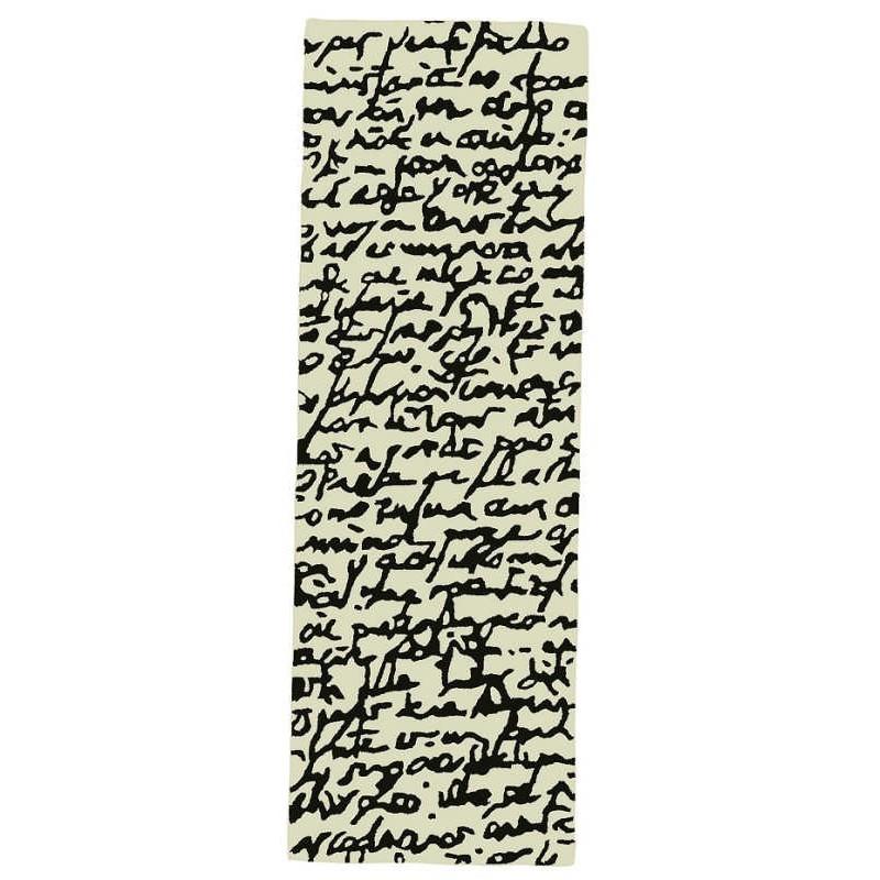 tappeto Manuscript Nanimarquina black on white passatoia