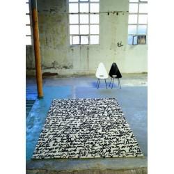 Carpet Manuscript Nanimarquina black on white