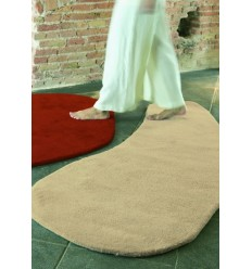 tappeto Stone 5 wool Nanimarquina red