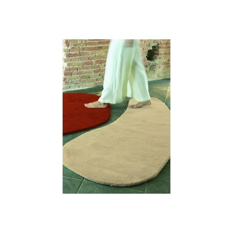 Carpet Stone 5 wool Nanimarquina red