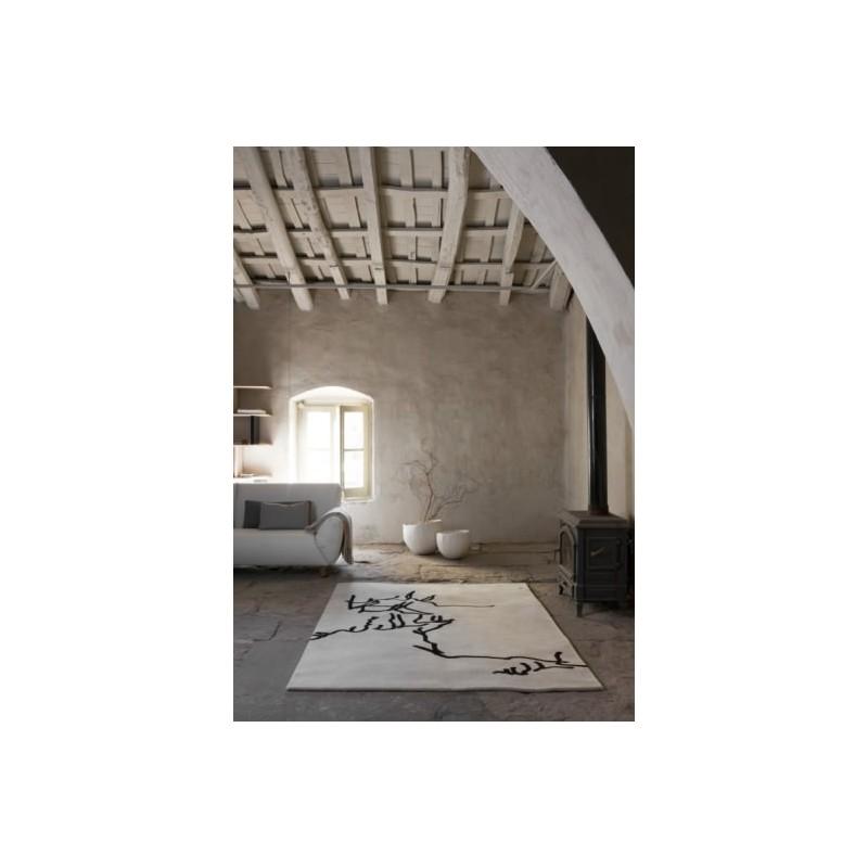 Carpet Chillida Nanimarquina Dibujo tinta 1957black and beige