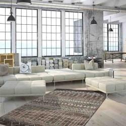 tappeto moderno geometrico algeria algiers marrone