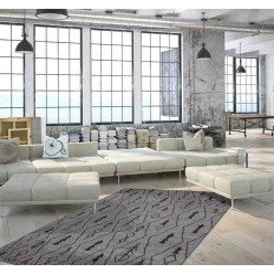tappeto moderno geometrico algeria constantine argento