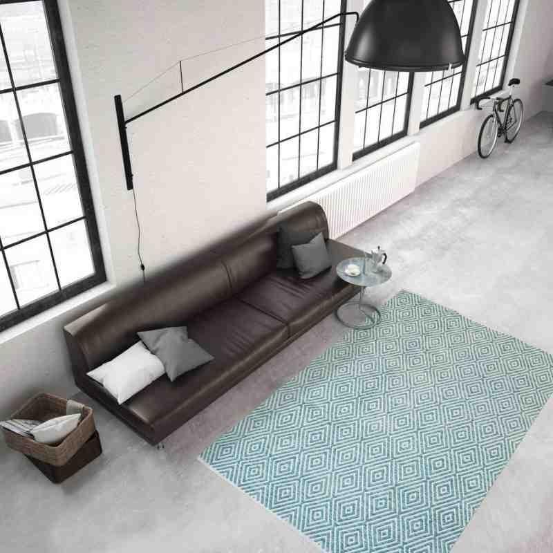 tappeto moderno tinta unita aperitif 310 turchese