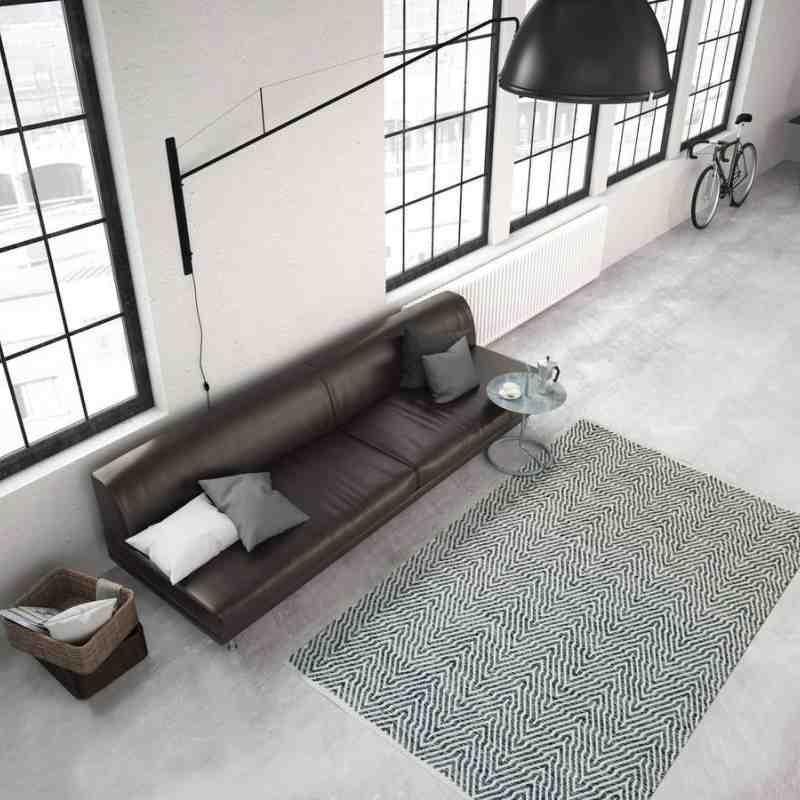 tappeto moderno tinta unita aperitif 410 grigio