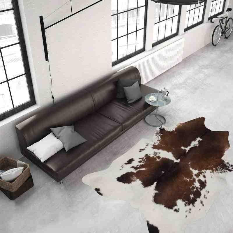 tappeto moderno tinta unita argentina l02zq marrone-bianco