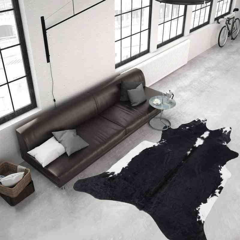tappeto moderno tinta unita argentina l02zq nero-bianco
