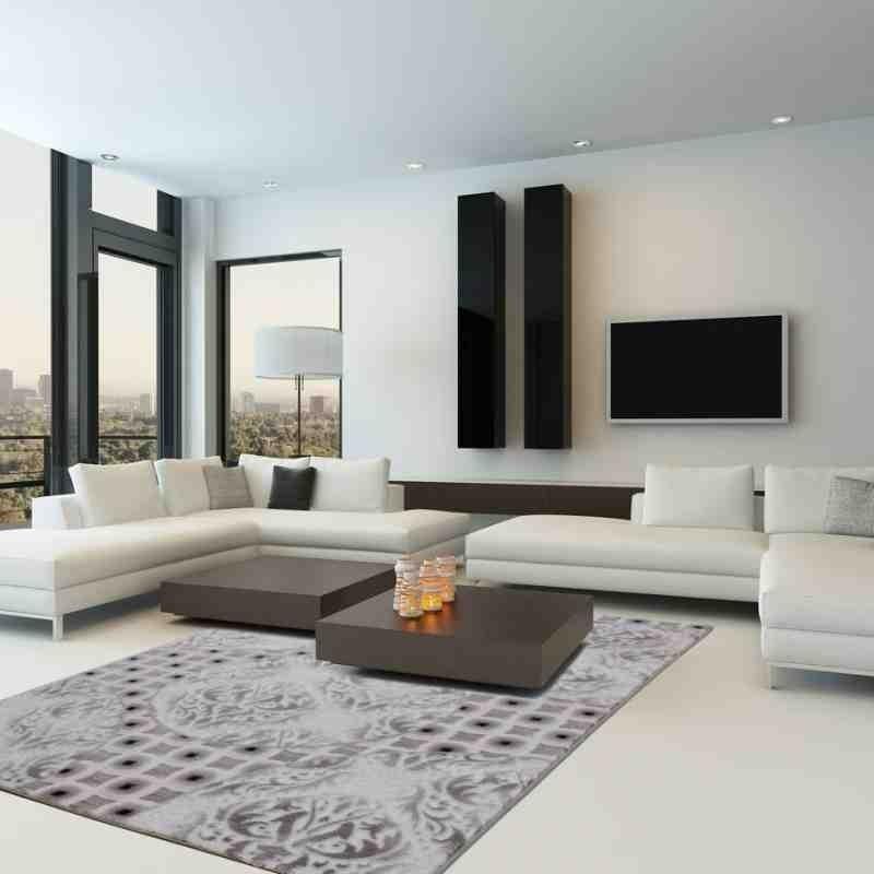 tappeto moderno geometrico austria villach argento