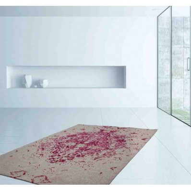 tappeto moderno fantasia ballerina 700 avorio-rosa