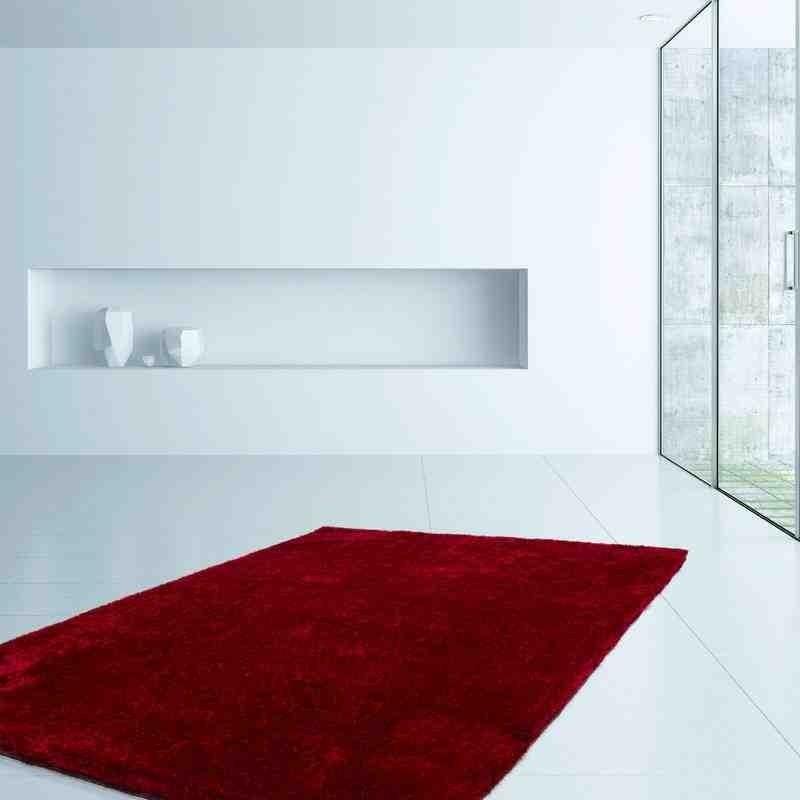 tappeto moderno tinta unita barbados bridgetown rosso