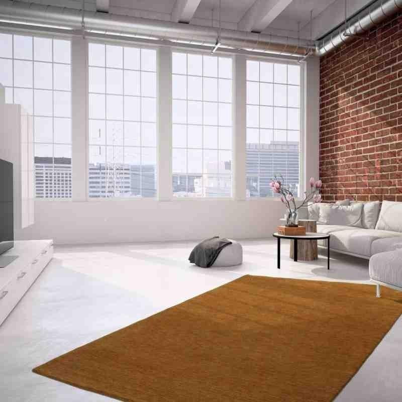 tappeto moderno tinta unita belize belmopan terra lana