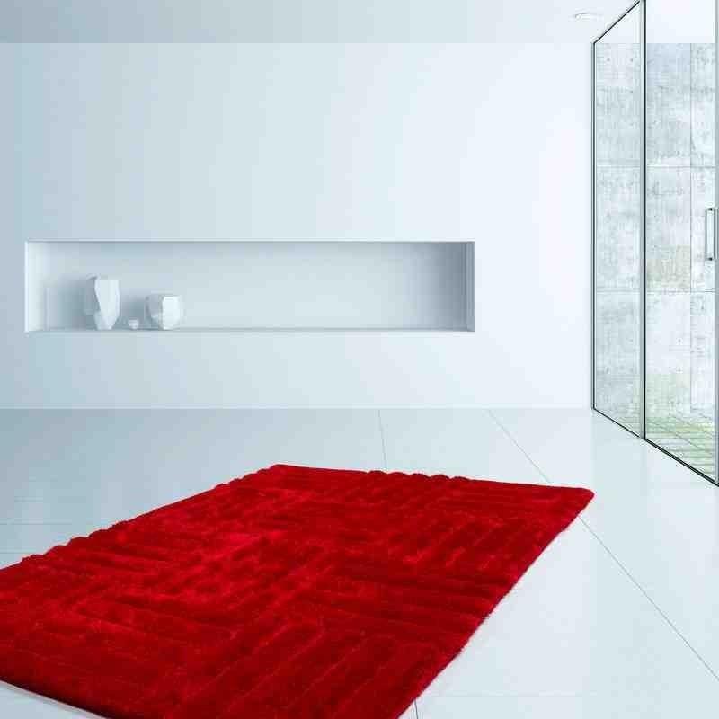 tappeto moderno geometrico canada toronto rosso